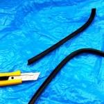 ミニのリアウインドーの雨漏り修理09
