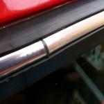 ミニのリアウインドーの雨漏り修理19